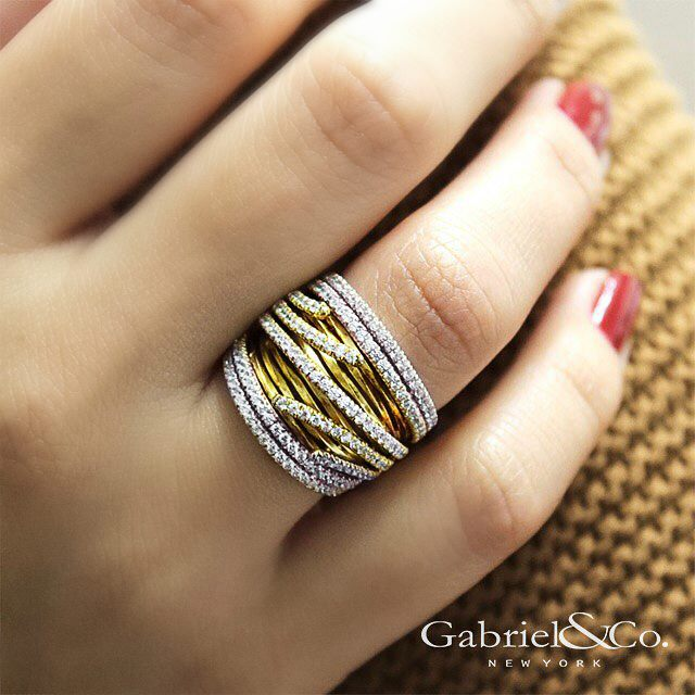 Gabriel & Co - yellow_gold_ring.jpg - brand name designer jewelry in College Station, Texas